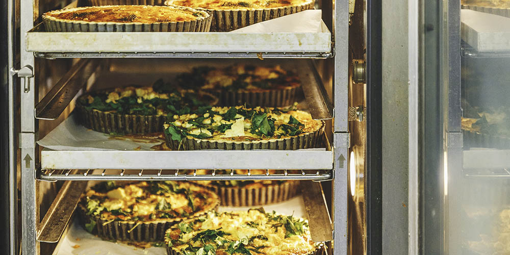 Beautiful Baked Pastries - Quiche to heat and serve